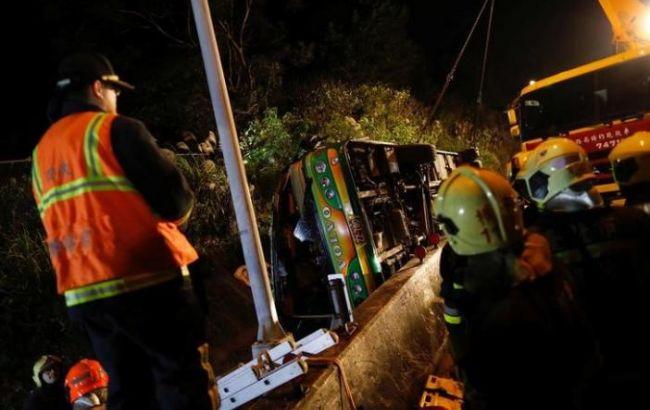 Фото: аварія автобуса на Тайвані
