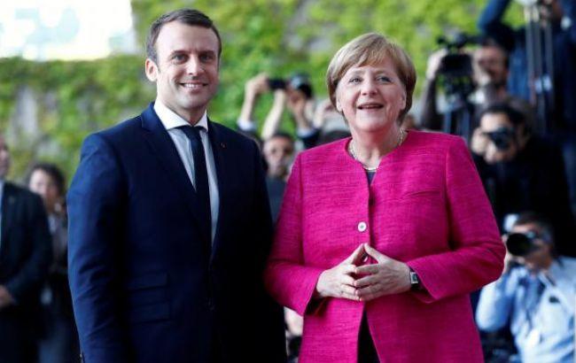 Фото: Ангела Меркель і Еммануель Макрон