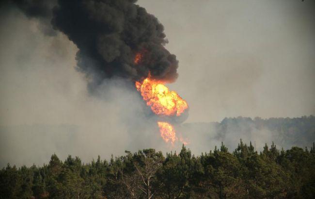 Фото: взрыв на газопроводе в Алабаме