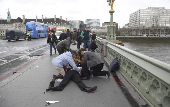 Фото: теракт біля парламенту Великобританії