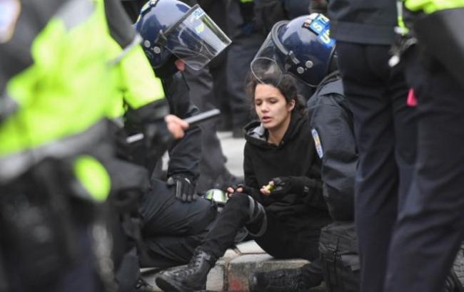 Протесты в Вашингтоне: полиция задержала 95 человек