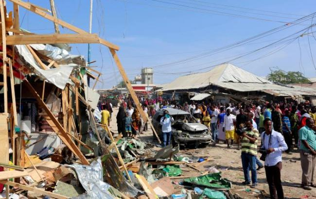 Фото: взрыв в Сомали
