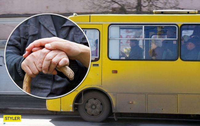 Просилася й стукала: у Києві грубий маршрутник образив пенсіонерку (відео)
