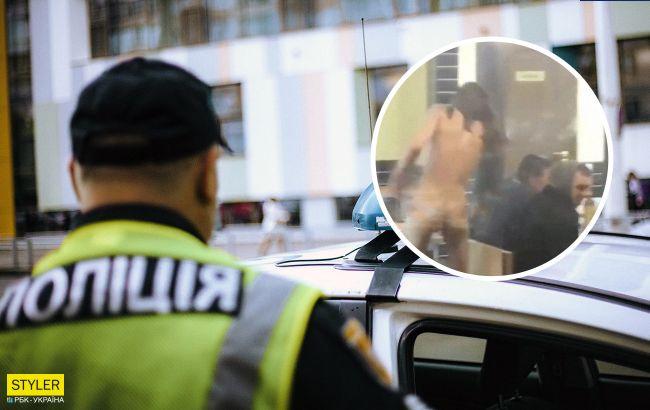 В Киеве голый парень вооружился бутылкой и напал на посетителей кафе (видео 21+)