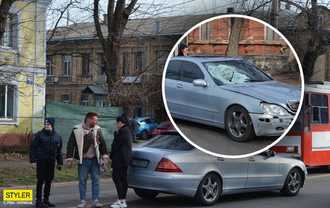 Разнимала полиция: в Николаеве устроили самосуд над виновником ДТП