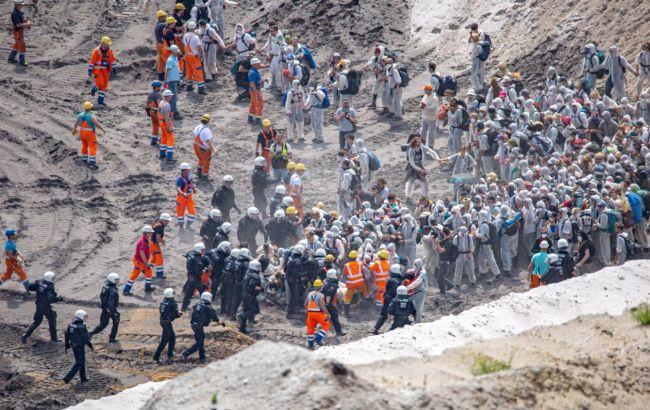 В Германии произошли столкновения на климатической акции