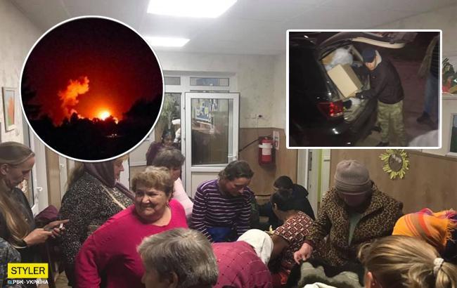 Эвакуация с места взрывов вблизи Ични: в сети показали, как местные жители провели ночь (фото)