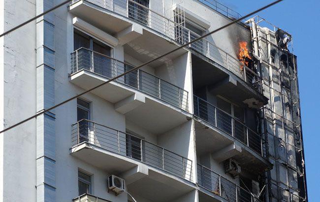 В Одессе горит 12-этажка, люди эвакуированы