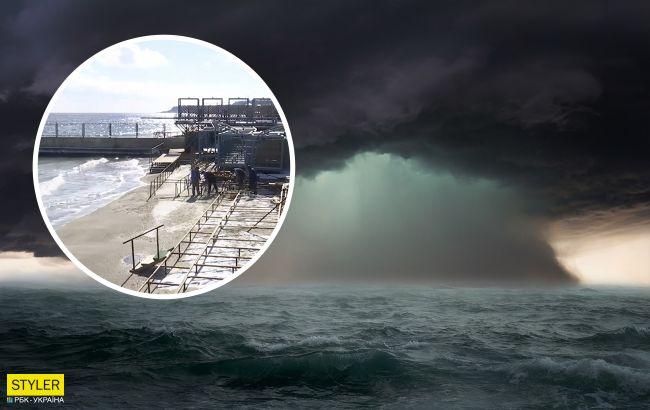 Одессу накрыл мощнейший морской шторм: уничтоженные пляжи показали на видео