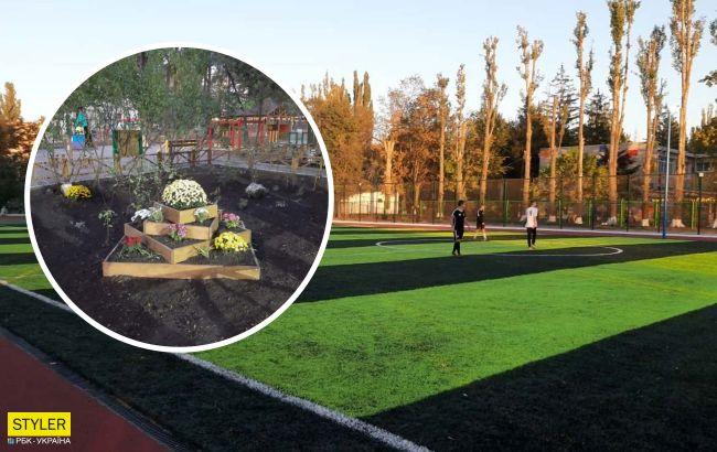 Мэр уехал - цветы выкопали: курьезное видео позора в школе Одессы