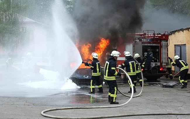 Во Львовской обл. на горнолыжном курорте сгорел отель