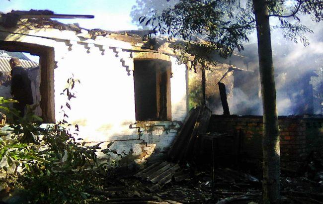 Фото: наслідки пожежі житлового будинку у Вінницькій області (прес-центр ДСНС)