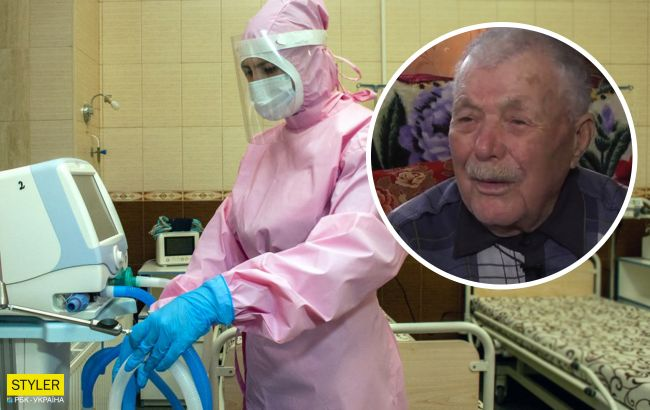 100-летний украинец выздоровел от коронавируса: поблагодарил врачей и пошел домой
