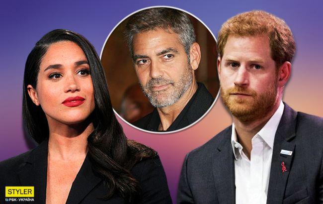 Джордж Клуні розкрив правду про стосунки Меган Маркл і принца Гаррі