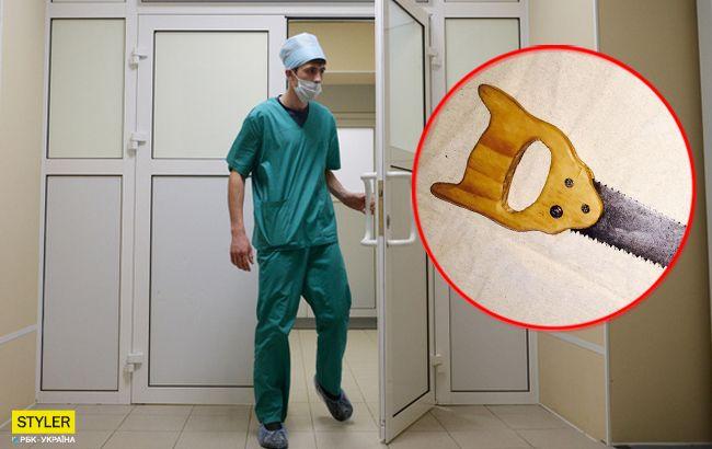 Під Сумами чоловік відрізав собі ногу, бо не мав грошей на лікарів
