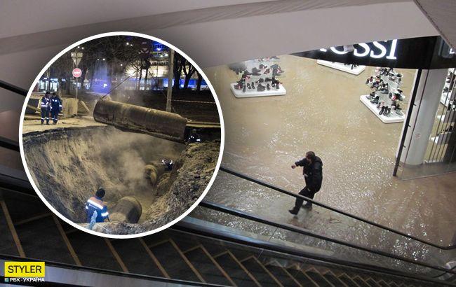 Новый провал: что изменилось за ночь возле затопленного Ocean Plaza в Киеве