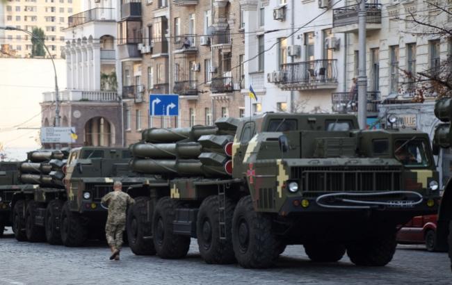 Фото: Репетиція військового параду в Києві (Віталій Носач, РБК-Україна)