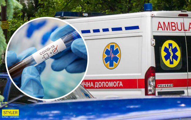 В больнице под Полтавой показали ужасные условия транспортировки больного COVID-19