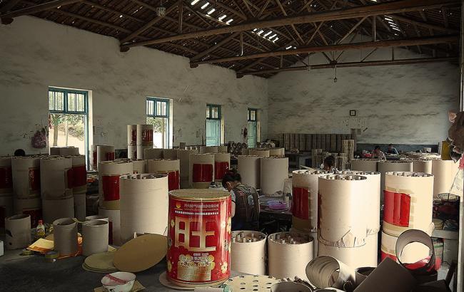 Фото: фабрика по производству пиротехники