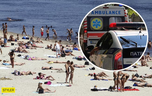 В Одессе люди с детьми купались и загорали рядом с утопленником (видео)