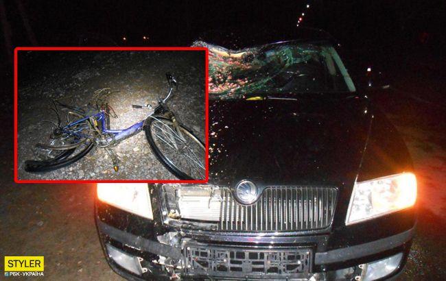 Вирішив покататися: п'яний підліток збив велосипедиста на татовому авто