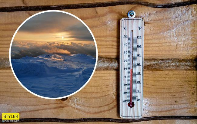 У Карпатському регіоні від -9 °С до +11 °С