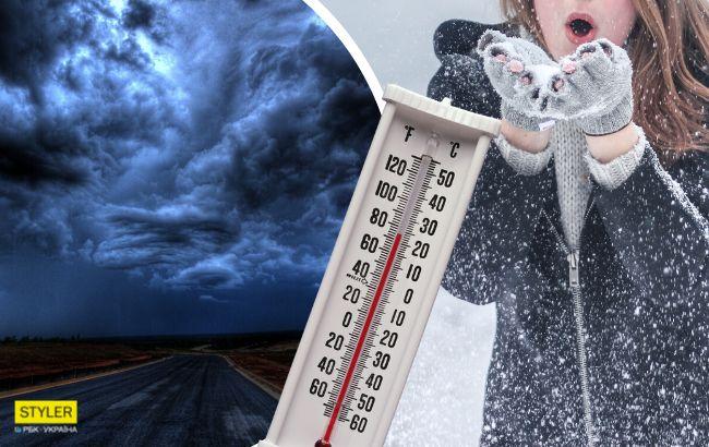 В Украину идет мощный циклон Ксантипп: синоптики предупредили об опасности