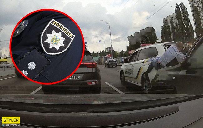 У Києві сталося страшне ДТП за участю поліцейської: з'явилося відео аварії
