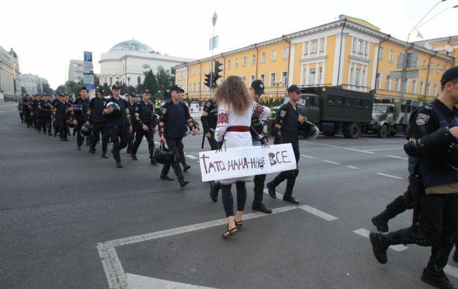 До табору противників Маршу рівності стягують поліцію