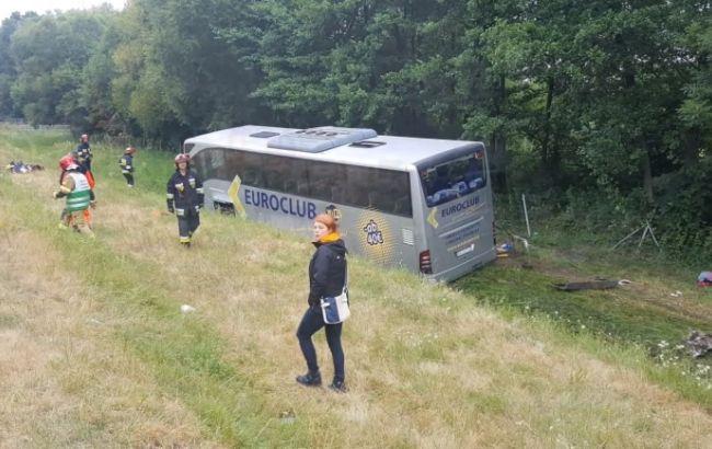 В Польше перевернулся автобус с украинцами, есть пострадавшие