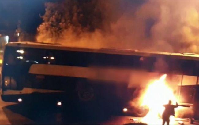 У Польщі загорівся автобус з понад 30 українцями: відео пожежі