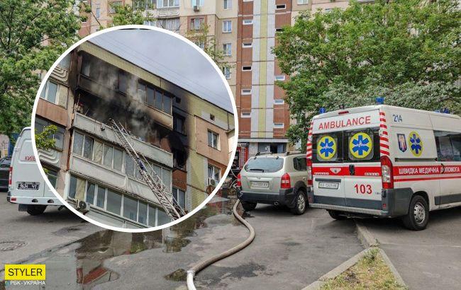 Женщина заживо сгорела на балконе: появилась первая версия жуткого пожара в Киеве