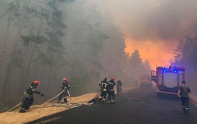 Масштабні пожежі в Луганській області: Рада створила ТСК