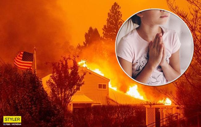 """""""Не плач. Молись"""": як українка з донькою рятувалися від пожежі в Каліфорнії (відео)"""