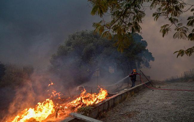 Лісова пожежа в Афінах вийшла з-під контролю: що відбувається