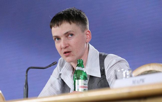 Фото: в ході прес-конференції Савченко заявила про поїздку в ЛНР і ДНР
