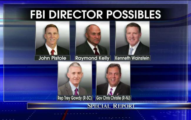 Назвали претендентов напост руководителя ФБР