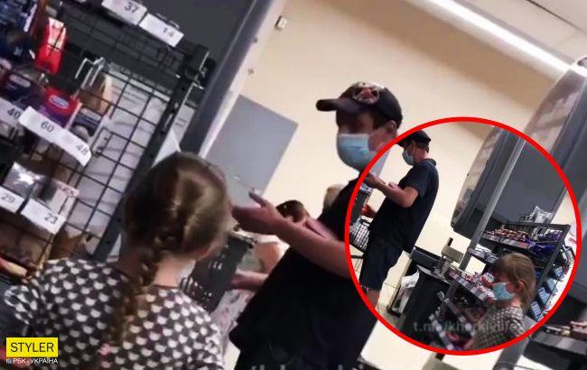 Маленька дівчинка обклала весь супермаркет добірним матом, тому що їй не купили воду