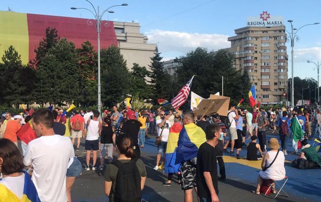 Фото: мітинг у Бухаресті (twitter.com/BalkanInsight)