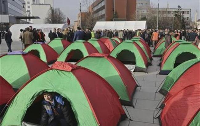 Фото: протесты в Косово