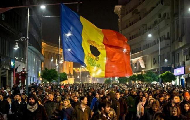 Фото: в Румынии продолжаются акции протеста