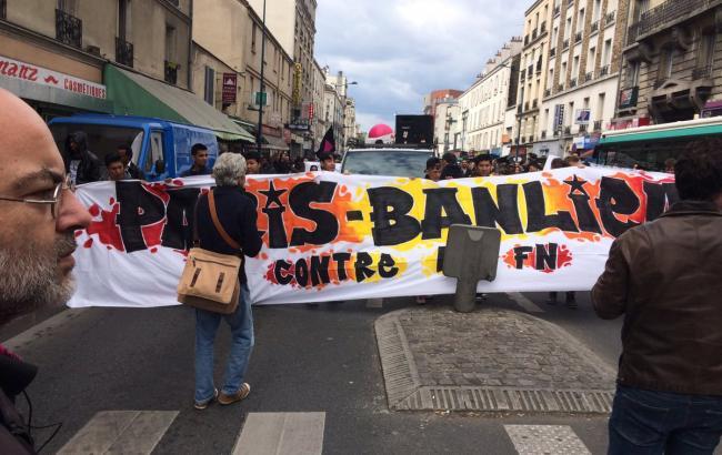 Встолице франции  протестующие против Марин ЛеПен устроили беспорядки