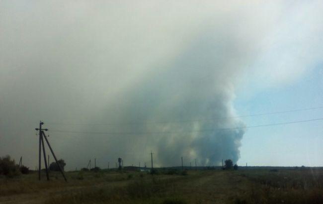 Фото: общая площадь пожара составляет около 20 га