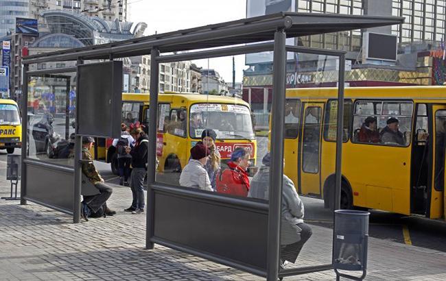 Фото: остановка в Киеве (РБК-Украина)