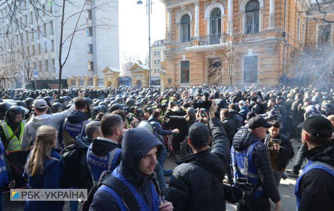 На акції націоналістів у Києві почалися сутички під АП