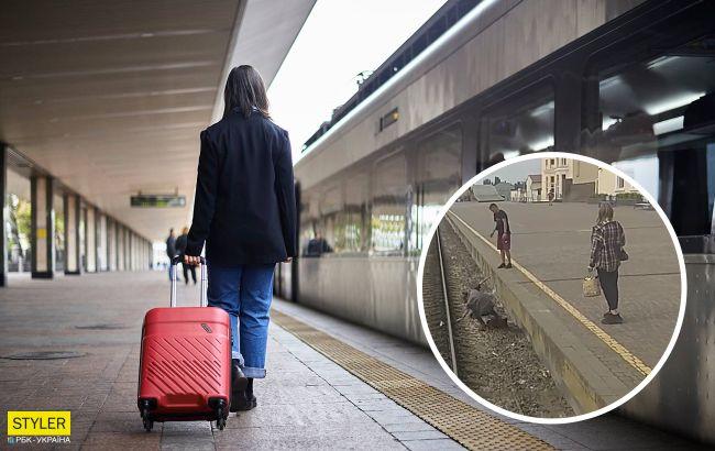 Конфуз на вокзалі у Харкові мало не закінчився трагедією: хотіла потрапити на іншу платформу (відео)