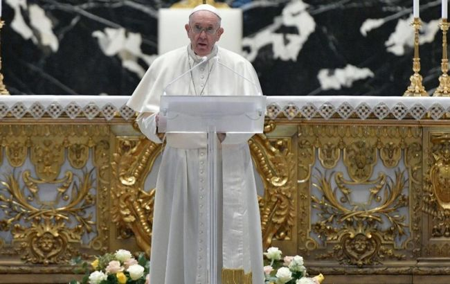 Папа Римский Франциск в Пасхальной речи упомянул о войне в Украине