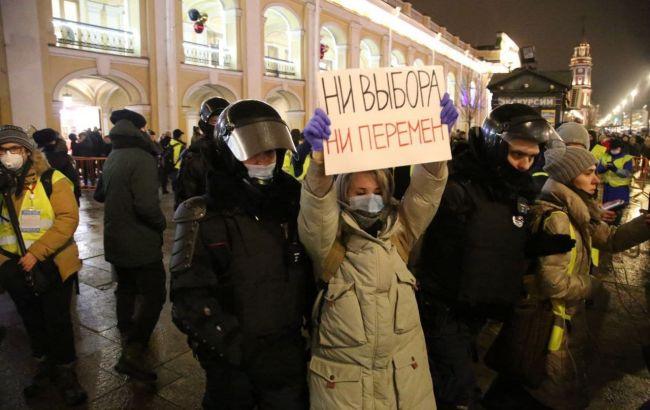 Кількість затриманих на протести в Росії наближається до 4 000
