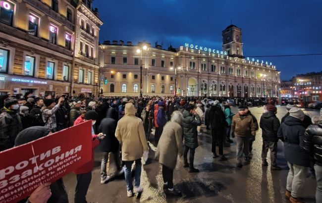 В центре Москвы произошли столкновения протестующих и полиции, жесткие задержания
