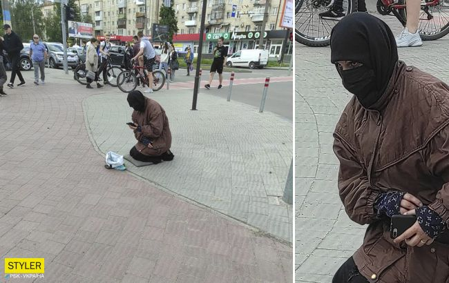 """В Черновцах заметили попрошайку - """"ниндзю"""" с iPhone: фото взорвало сеть"""